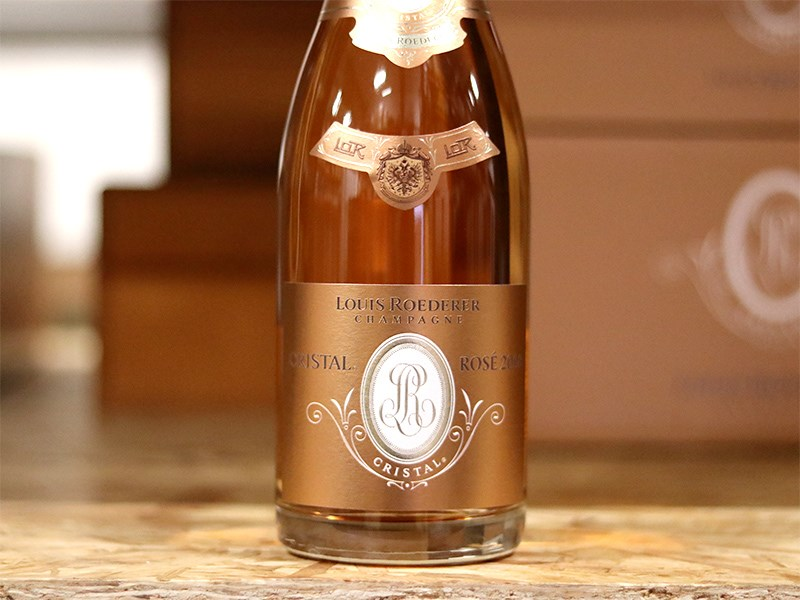 Investment in Cristal Rosé champagne from Louise Roederer